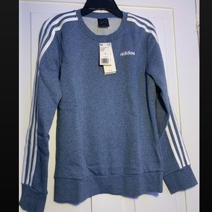 adidas soft and warm navy blue crew neck
